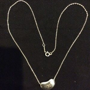 Tiffany Bean Shaped Pendant with Chain